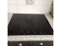 Halogen/ electric hob, 2nd hand still works OK. (replacing kitchen so have other items too)
