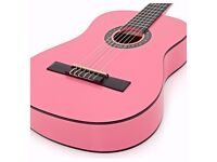 3/4 Acoustic Guitar in Pink by Gear4music