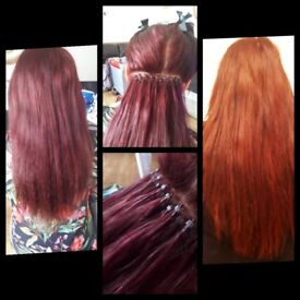 Mobile hair extensions specialist, for your glamorous lengths only the finest remy graded hair used