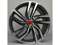 """20"""" Gunmetal polished Jag Twist Style wheels and tyres suitable for a Jaguar XE & XF ETC"""