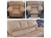 Leather sofa set (3,1,1)