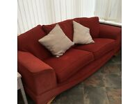 Dfs 3 seater sofa and large marching chair