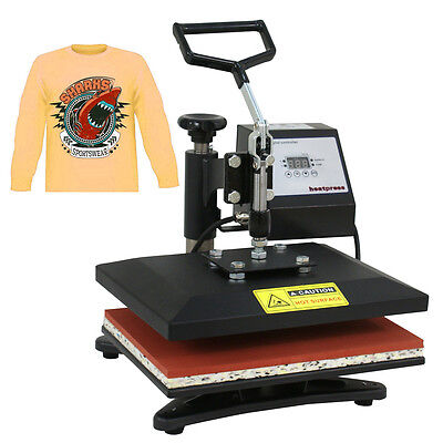 12x10 Diy Digital Heat Press Machine For T-shirts Htv Transfer Sublimation Us