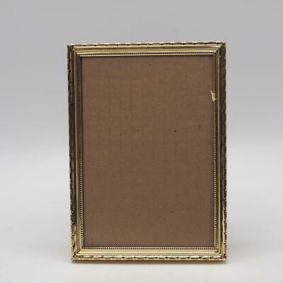 Vintage Goldtone Metal Picture Frame for 5 x 7
