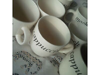 10 X Creative Tableware Italian Mugs Latte / Cappuccino / Mocha Coffee Mugs
