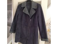 Blue lined Kenneth Cole jacket in swede effect Large