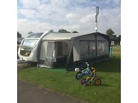 Bradcot full seasonal awning size 17 with brand new annex and fake grass carpet