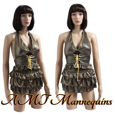 Ft-2c- Female Half Body Mannequin Dress Formrotated Arms Head Plastic Torso