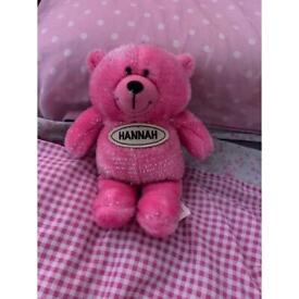 Pink Cuddly Hannah Bear