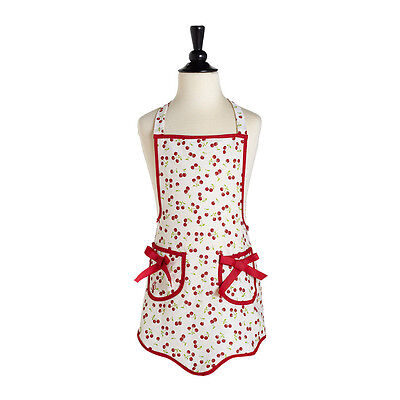 Jessie Steele Retro Cherries CHILDS KITCHEN APRON  (New With Tags)  SALE!