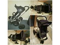 Quinny Buzz 3 Stroller with Quinny click on bag and Quinny rain cover