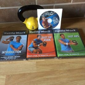 Set of four Kettleworx DVD and Kettlebell