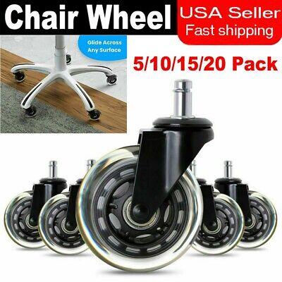 5101520pcs Office Chair Caster Swivel Wheels Replacement Floors Heavy Duty 3