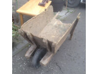 Traditional Rustic Antique Victorian Distressed Wooden Wheelbarrow – Strong & Sturdy