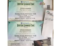 STEVIE WONDER 2x Priority Tickets Hyde Park Plus Travel & Hotel in London 10th July 2016