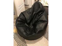 Black lounger beanbag chair