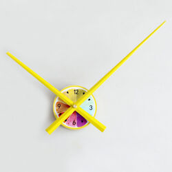 Decorative Wall Clock 3D Extra-large Hands Refreshing Lemon,Multi-Color