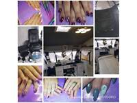 Acrylic Nail extensions with Gel polish