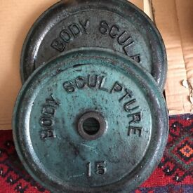 Vintage Body Sculpture 15lb x 2 weights