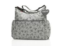 Babymel Big Slouchy - Bow Grey baby changing bag - brand new with tags
