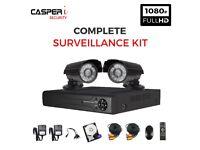 4CH AHD 1080P DVR 2x 1080P IR Outdoor CCTV Security Camera System Kit 1TB HDD