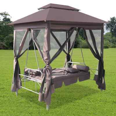 Gartenschaukel Hollywoodschaukel mit Bettfunktion Liege Pavillon Schaukelstuhl