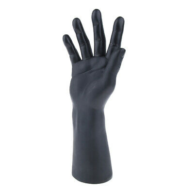 Vinyl Realistic Male Mannequin Hand For Gloves Jewelry Watch Display Black