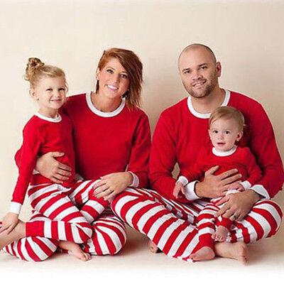 Childrens Christmas Sleepwear (Xmas Sleepwear Pajamas Pyjamas Costume Christmas Kids Adults Family)