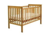 East Coast Bamboo Cot Bed - Including Mattress - in Immaculate Condition!