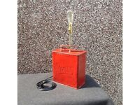 BARGAIN !!!!! Vintage /Retro Petrol Can Table Lamp