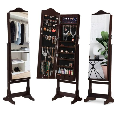 full length mirrored jewelry cabinet armoire mirror