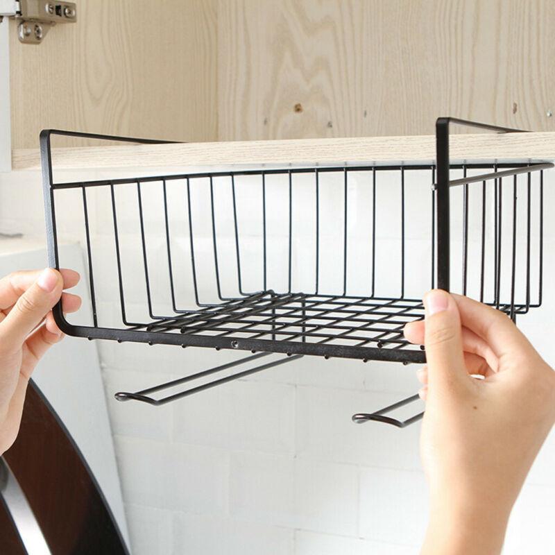 Storage Mesh Basket Wire Rack Under Cabinet Cupboard Shelf D