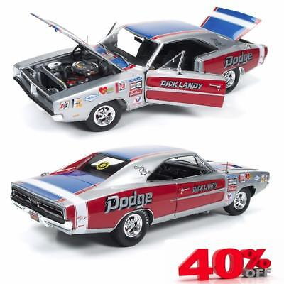 Auto World AW228 - 1969 Dodge Charger R/T Dick Landy Diecast Model Car 1:18