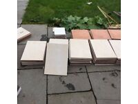 90 light marble affect tiles 450x31 terracotta 3 mtrs 2 mtrs dark grey 100 pounds