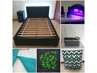 House Clearance items - bed, bedding, fairy lights, cake stands, cushion..