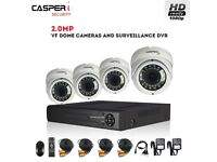 CASPERi CCTV 1080p VariFocal Dome Cameras 2.0MP 4 Channel DVR Security system with 1TB HDD