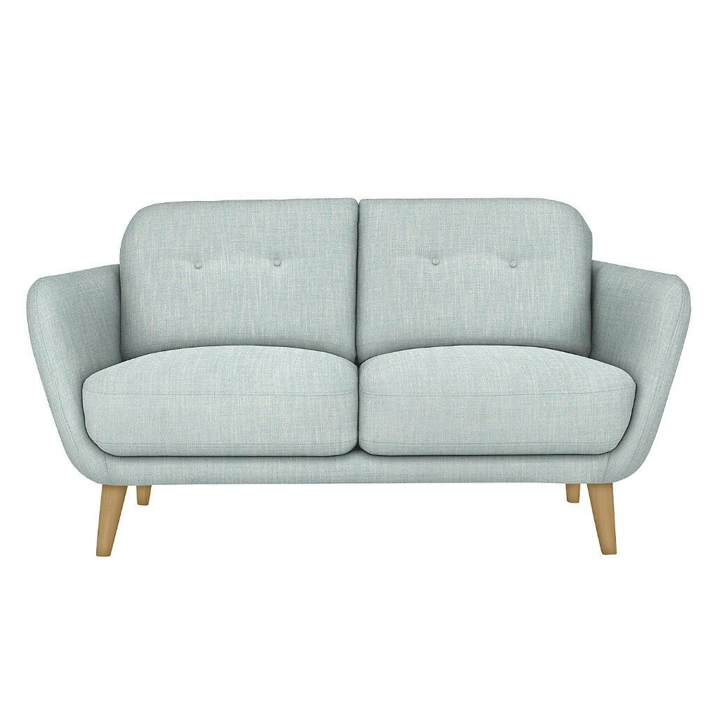 New John Lewis Arlo Medium Sofa Matilda Duck Egg Pale Blue Fabric ...