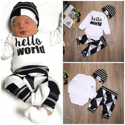 newborn toddler baby boy girl tops romper pants leggings