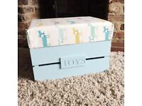 Handmade children's storage footstool/seat
