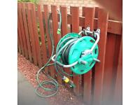 Garden hose reel and approx 30Mtrs of quality hose