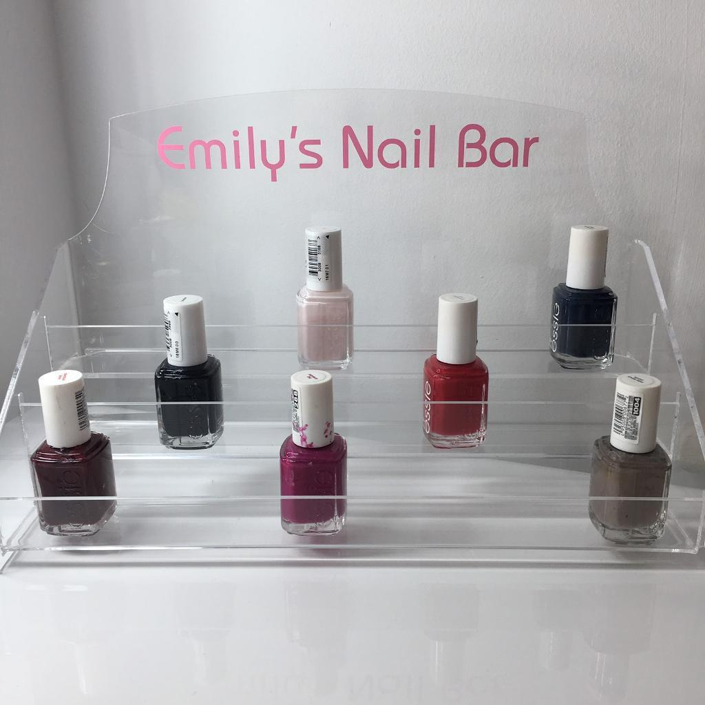 Personalised Emily's nail bar nail polish stand display - Essie Barry m chanel Christmas gift | in Norwich, Norfolk | Gumtree