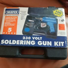 New Draper 230v Soldering Gun Kit
