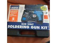 New Draper 230v Soldering Gun Kit