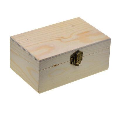 Unvollendete Holz Aufbewahrungsbox Holzschatulle Holzkästchen Holzkiste