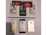 APPLE IPHONE 5S 32GB UNLOCKED MINT CONDITION COMES WITH WARRANTY , ACCESSORIES AND BOX