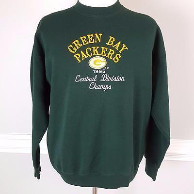 Vtg 1995 Green Bay Packers Sweatshirt Mens Sz XL Central Division Champs