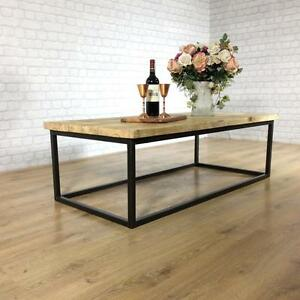 John Lewis Calia Style Coffee Table Vintage Industrial Reclaimed Wood Plank Top Ebay