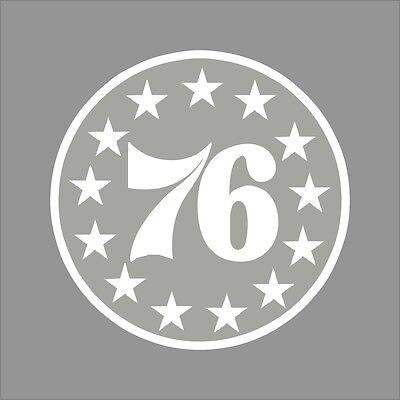 Philadelphia 76ers Logo Wall - Philadelphia 76ers #5 NBA Team Logo 1Color Vinyl Decal Sticker Car Window Wall