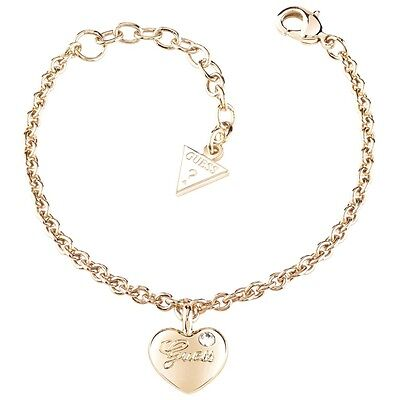 GUESS UBB21528 S Damen Armband Herz vergoldet Zirkonia weiß 20 cm