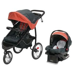 NEW Graco FastAction Fold Jogger Click Connect Travel System, Rixen